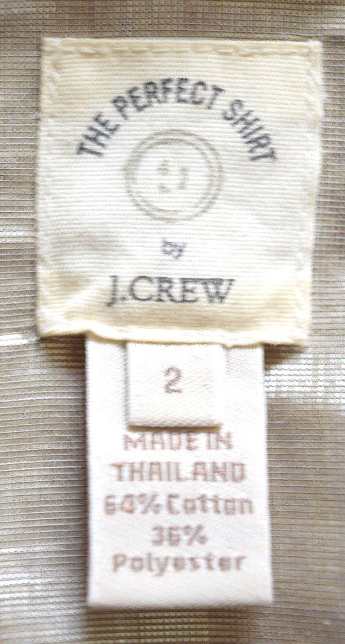 J. Crew el el el perfecto Metálico Corto Manga Larga Botones Top Talla 2 1802KO cd7230