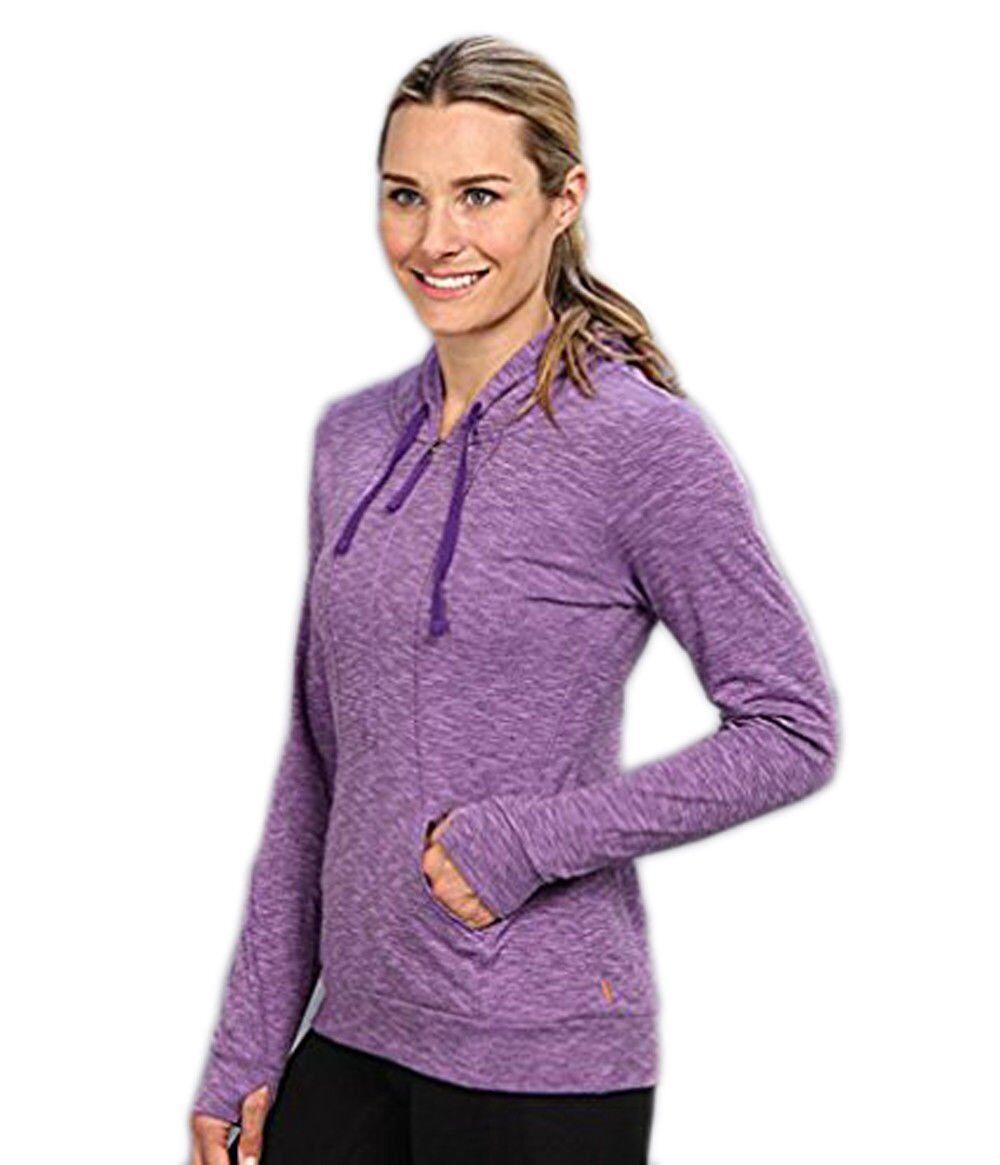 Lucy Women's Sexy Sweat Half Zip Lavender Glow Heather XS NWT