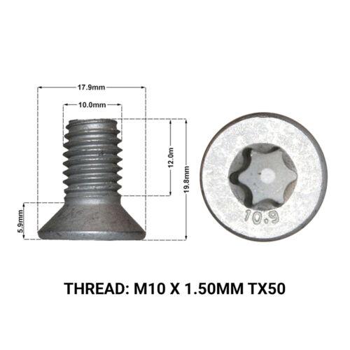 2 x FRONT BRAKE DISC RETAINING SCREWS DRS1670D LANDROVER FREELANDER 2006-/>2013