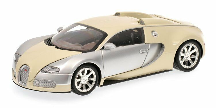 Bugatti Veyron Edition Centenaire 2009 Chrome & Beige 1 18 Model 100110854