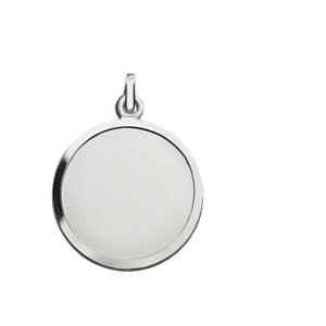 Anhaenger-925er-Silber-Gravurplatte-schlicht-rund-mattiert-Gravur-moeglich