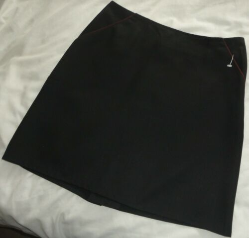 A Four Owls Product Black School Uniform Straight Skirt With 2 Pockets