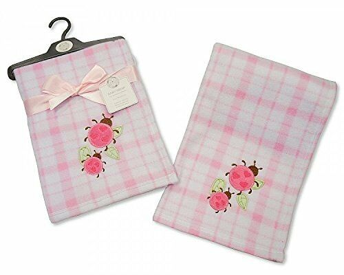 Brand New Snuggle Baby polaire Baby Wrap Couverture Rose /& Blanc Carreaux Coccinelle