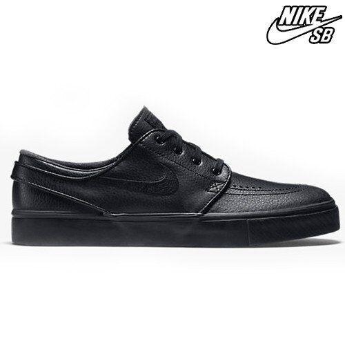 Nike SB Zoom Stefan Janoski Leather Mens 616490-006 Black Skate Shoes Size  10 for sale online  abd33668f2
