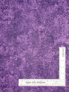 Moonstone-Purple-Silver-Glitter-Blender-Cotton-Fabric-Traditions-By-The-Yard