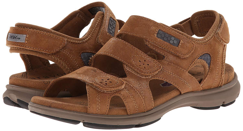 Aravon Revsoleil AAW08TN Tan Sandals shoes 6 D