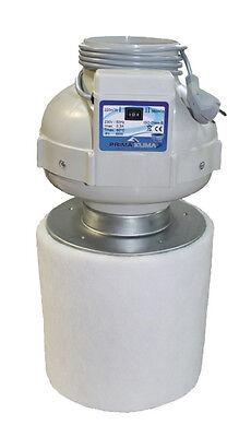 2019 Neuer Stil Prima Klima Pk125-2 Kombo-kit Rohrventilator Two-speed 220/400 M³/h + Akf