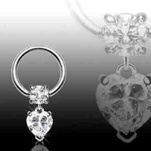 Surgical-Steel-Gemmed-Captive-Bead-Ball-Closure-Ring-with-Clear-Heart-Dangle