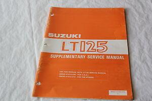suzuki lt125 lt 125 factory service manual supplement genuine oem 84 rh ebay co uk suzuki lt 125 service manual pdf suzuki alt 125 manual