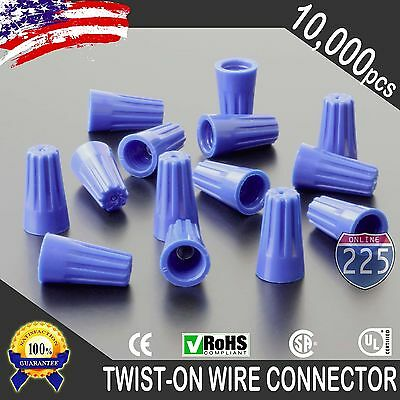 1000 Blue Twist-On Wire GARD Connector Conical nuts 22-14 Gauge Barrel Screw US