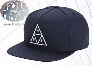 New HUF Triple Triangle Navy Mens Relax fit Snapback Cap Hat  58485cf11642