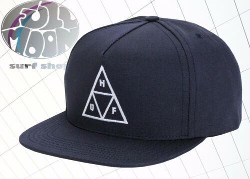 New HUF Triple Triangle Navy Mens Relax fit Snapback Cap Hat