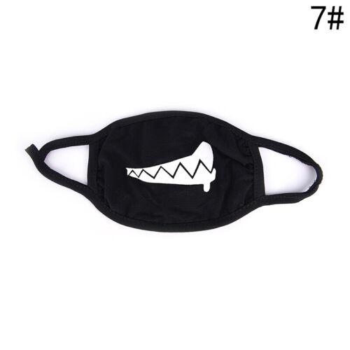 1 pièces 22 Style Unisexe de Bande Dessinée Drôle Dents Lettre Bouche Noir