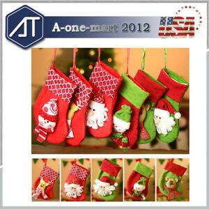 6-Pack-Christmas-Stockings-Hangers-Xmax-Gift-Socks-Bags-3D-Pattern-Fabric-Decor