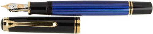 Fountain Pen Pelikan Souveran M800//M805 Green OR Black OR Blue with 18C gold nib