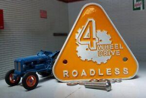 Bien éDuqué Land Forest Rover Série Fonte D'aluminium Grill Baignoire Badge Routes Fordson Major-afficher Le Titre D'origine Prix Raisonnable