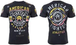 AMERICAN-FIGHTER-Men-T-Shirt-POMONA-ARTISAN-Athletic-BLACK-Biker-Gym-MMA-40