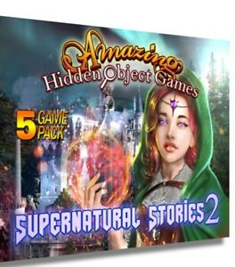 AMAZING HIDDEN OBJECT GAMES SUPERNATURAL STORIES 2, 5 PACK GAME PC DVD-ROM NEW