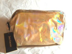 Juicy-Couture-Classic-Medium-Cosmetic-Case-Wire-Opening-Holographic-Gold-Zipper