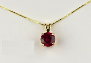 1-5Ct-Round-Cut-Red-Ruby-Solitaire-14K-Yellow-Gold-Over-Pendant-Without-Chain