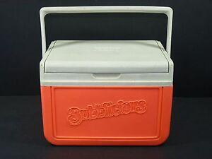 Vintage-Bubblicious-Bubble-Gum-Pink-Coleman-Cooler-Model-5205-Promotional-Item