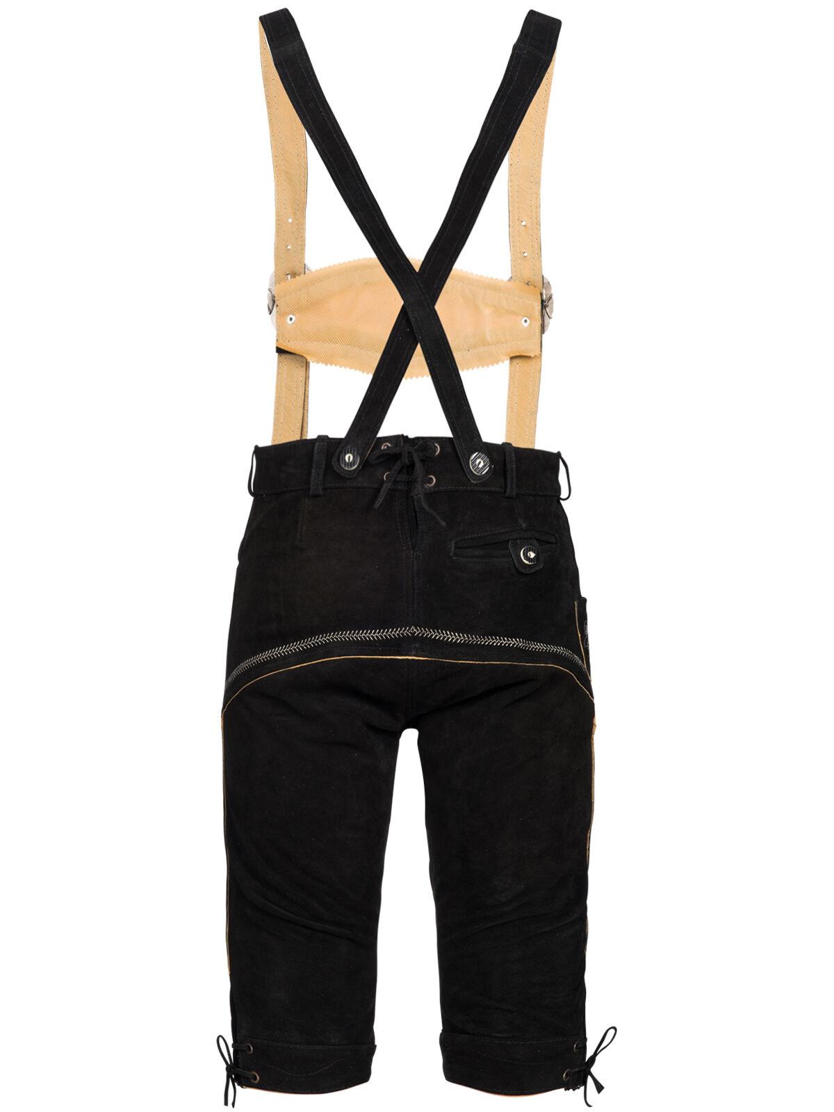 Set Set Set costume tradizionale Uomo Pantaloni FOLCLORISTICI IN CUOIO CON spalline b335c6