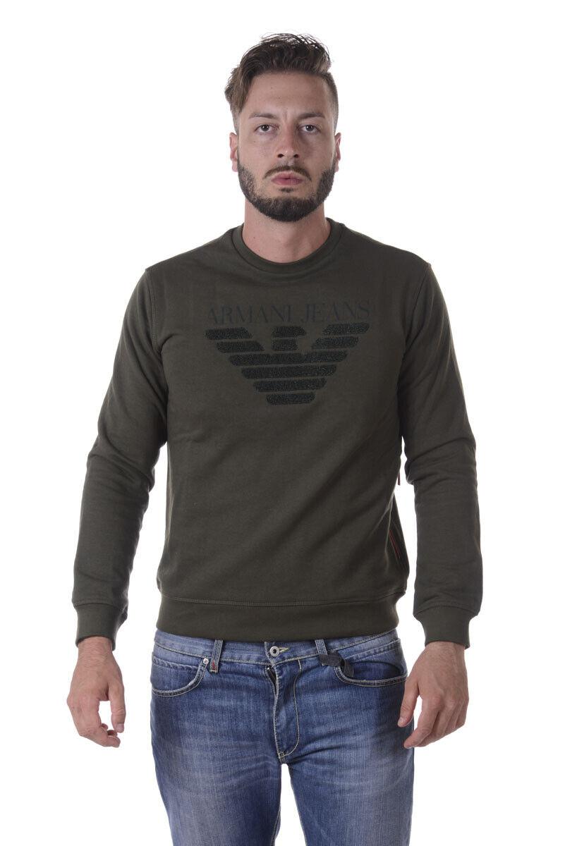 Armani Jeans AJ Sweatshirt Hoodie Man Greens 6Y6M096J1MZ 1861 Sz. S PUT OFFER