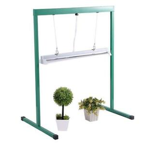 iPower 24W 2 Feet T5 6400K Fluorescent Grow Light Stand Rack for Seed Starting