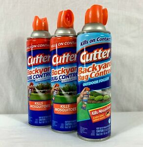 3x 16 oz Cans Cutter Backyard Bug Control Outdoor Fogger ...