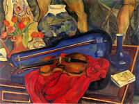 Violin Musician Music By Painter Suzanne Valadon Art Poster Repro Free S/h