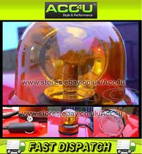 12v Car Van Emergency Work Warning Safety Flashing Revolving Orange Beacon Light