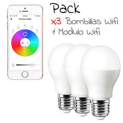 Bombilla LED Wifi RGB 6W Cambia COLOR desde el movil - modulo wifi - mando WIFI