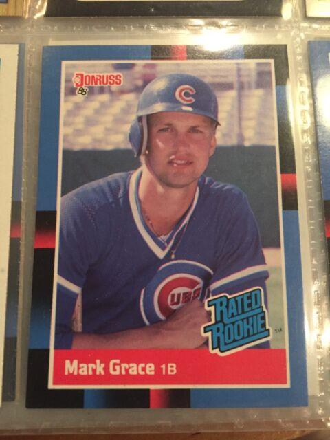 1988 Donruss Mark Grace Chicago Cubs 40 Baseball Card
