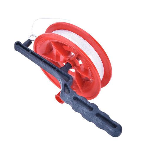 Durable 100M Twisted Winder Spool Diameter 12cm String Line Red Wheel Kite Reel