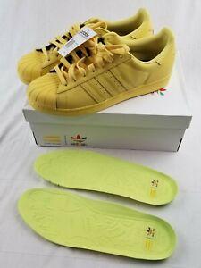 Adidas-Pharrell-Williams-Superstar-Supercolor-Mens-Sz-11-Bright-Yellow-unworn
