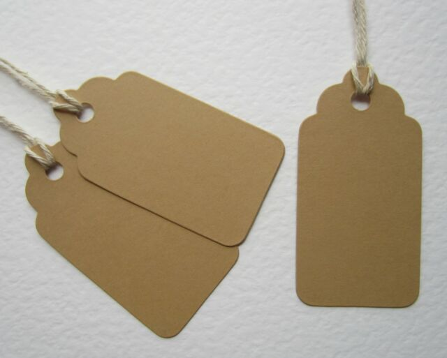 100 Brown Vintage Wedding Place Cards Tags Table Name Guests Table Party Gift