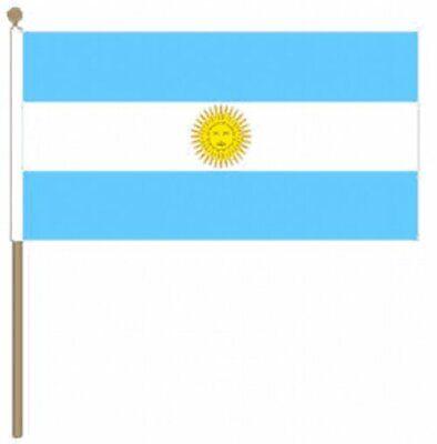 12 Stück Argentinien (22.9cm X 15.2cm) Hand Winkfahne