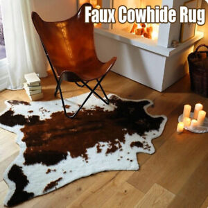 Details about Soft Faux Cowhide Rug Cow Print Rug Living Room Tile Lounge  Room Office Carpet