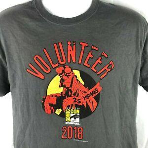 SDCC-San-Diego-Comic-Con-2018-Hellboy-Volunteer-L-M-T-Shirt-Medium-Fit-41in-Mens