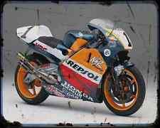 Honda Nsr 500 98 A4 Metal Sign Motorbike Vintage Aged