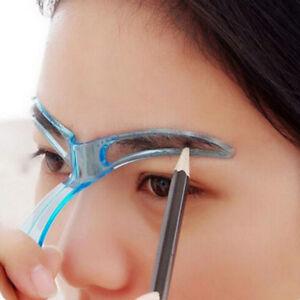 Pro Eyebrow Shaper Template Stencil Brow Shaping Makeup DIY Tool | eBay