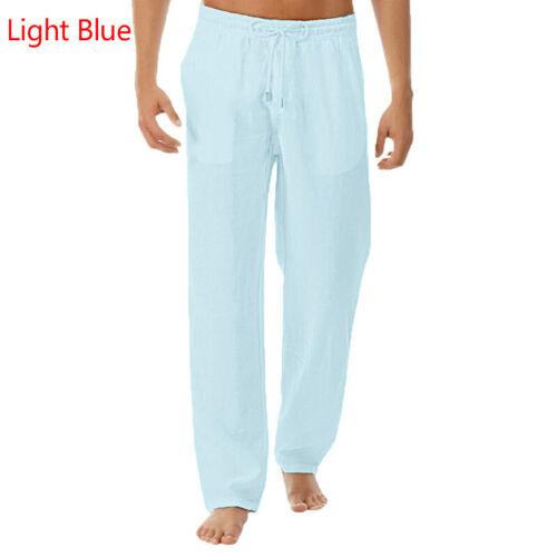 Summer Men/'s Casual Cotton Linen Baggy Harem Pants Beach Yoga Hippy Trousers Y