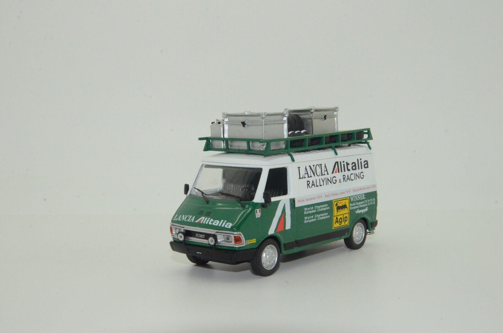 RARE     Fiat 242 Lancia Alitalia Service Van Deagostini 1 43