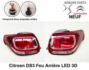 citroen ds3 feu arri re led 3d c t droit et gauche x 2. Black Bedroom Furniture Sets. Home Design Ideas