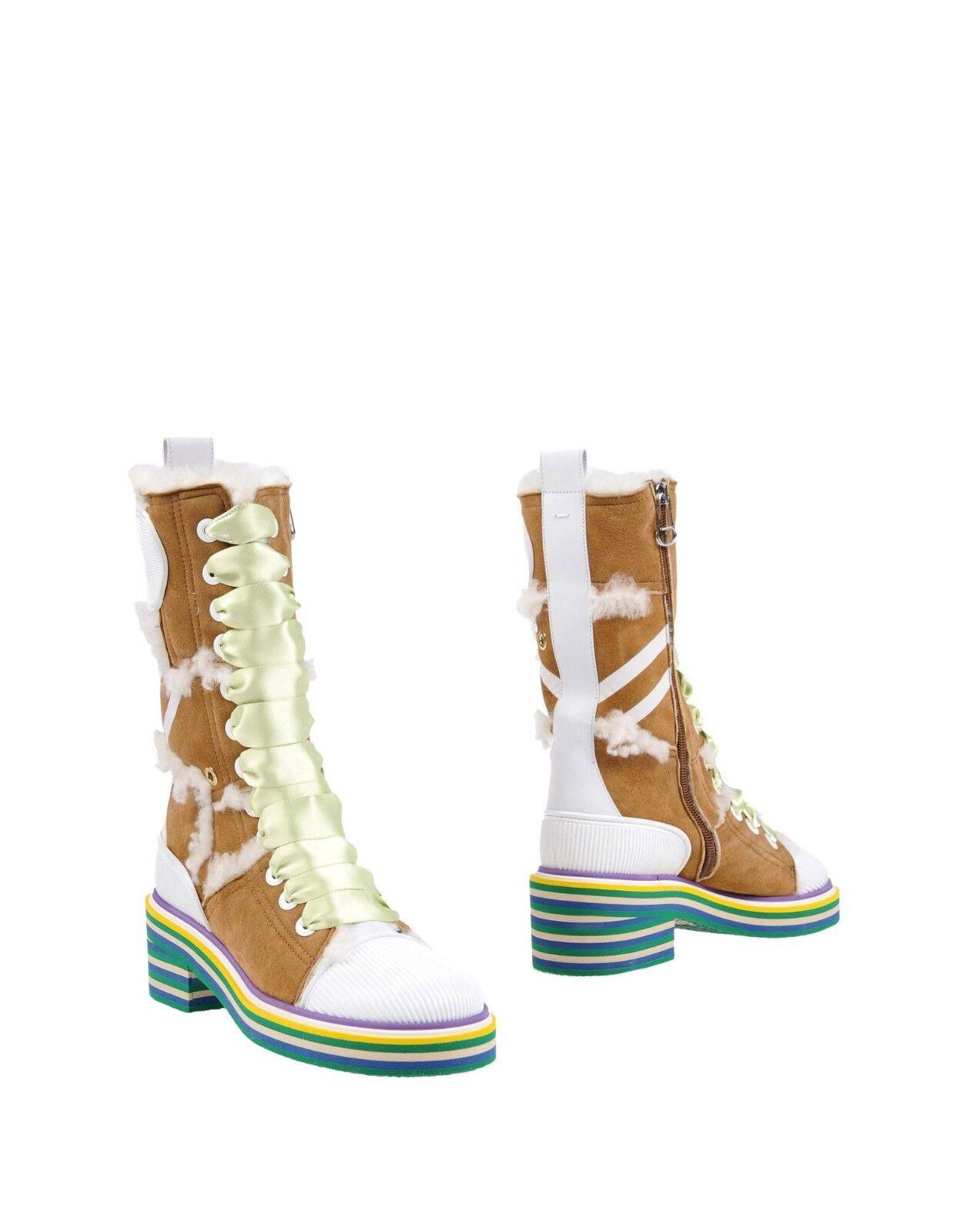 MAISON MARGIELA Ankle SHEARLING Stiefel  1150 Größe US7 NWB