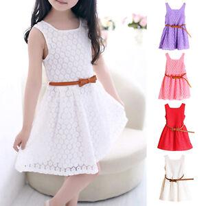 00d2abeb84ee Elegant Summer Children s Wear Lace Vest Dress Girl Princess Dress ...