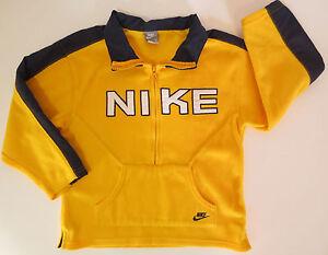 0eea559a244a Nike Boys Size 6 Yellow Blue Pullover Half Zip Fleece Sweatshirt