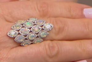 Fine Jewelry Special Section Victoria Wieck Ring Size 9-10 To Suit The PeopleS Convenience