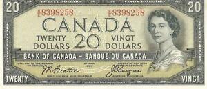 Canada 1954 20 Dollars Modified Portrait