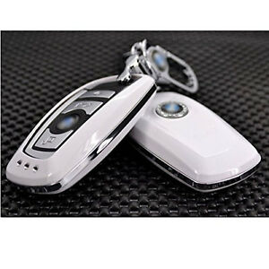 White Bmw M5 M6 3 5 7seires Smart Car Remote Fob Key Case Cover Holder Key Chain Ebay